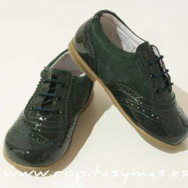 Zapato vicente verde botella mixto