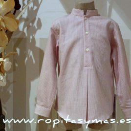 Camisa microraya rosa Ancar, invierno 2015