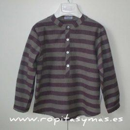 Camisa rayas vino y gris Ancar, invierno 2015