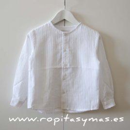 Camisa blanca rayas mao NUECES, verano 2016