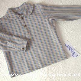 Camisa rayas mostaza bebe de  Ancar, invierno 2016