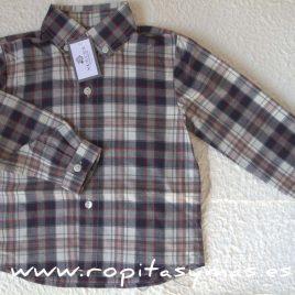 Camisa niño CUADRO GRIS de NUECESKIDS, invierno 2016