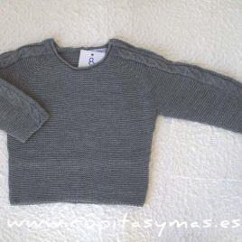 Jersey jubón ochos gris de ANCAR, invierno 2016