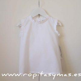 Blusa blanca puntilla cuello de ancar, verano 2017