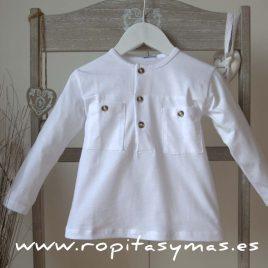 Camiseta polera blanca mao bolsillos de  ANCAR, verano 2020