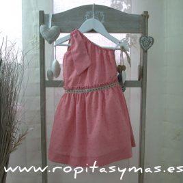 Vestido griego plumeti rosa de  ANCAR , verano 2017