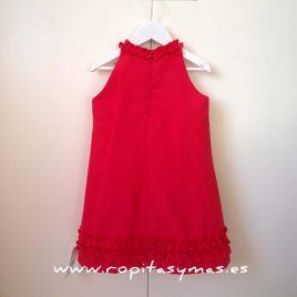 Vestido rojo collar de  ANCAR, verano 2017