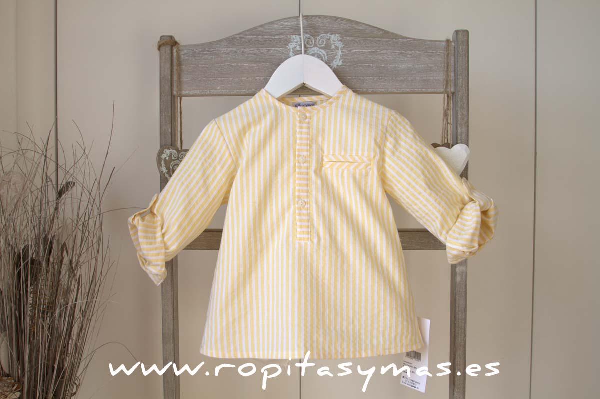 Camisa rayas amarillas de ANCAR