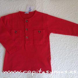 Camiseta polera roja mao bolsillos de  ANCAR, verano 2017