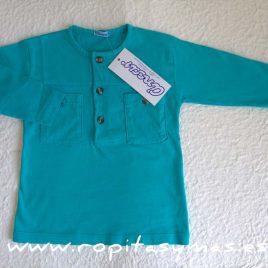 Camiseta polera turquesa mao bolsillos de  ANCAR, verano 2017