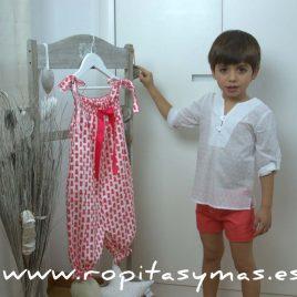 Conjunto coral y plumeti niño de EVE CHILDREN, verano 2017