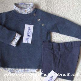Jersey azul aberturas botones de ancar, invierno 2016