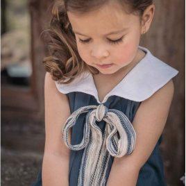 Vestido azul tinta ATHINA, verano 2016