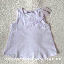Camiseta blanca lazo de MARIQUILLA, verano 2015