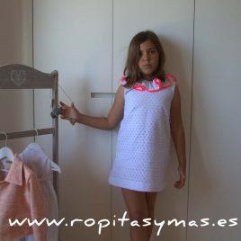Vestido MARTINA espalda en V de NUECESKIDS, verano 2017