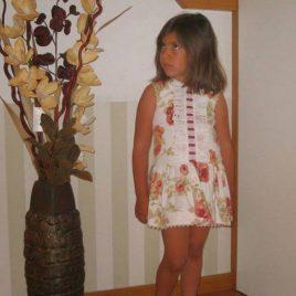 Vestido Baja costura floral Verano 2014