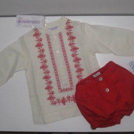 Camisa mexicana coral de Ancar, verano 2014