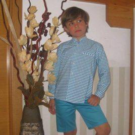 Camisa  cuadros turquesa de ancar, verano 2016