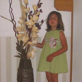 Nenufar vestido verde volantes de Kauli