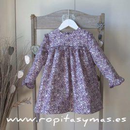 Vestido  morado canesu de ancar, invierno 2017