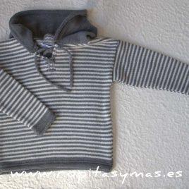 Jersey capucha rayas grises de ANCAR, invierno 2017