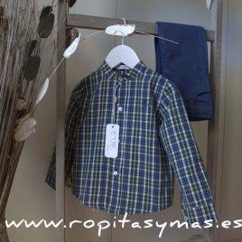 Camisa cuadros azules y verdes de EVE CHILDREN, invierno 2017