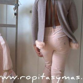 Pantalón pitillo rosa niña de  EVE CHILDREN, invierno 2017