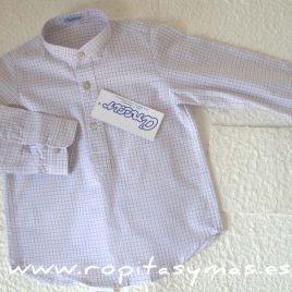 Camisa cuadros blancos y morados de Ancar, invierno 2017