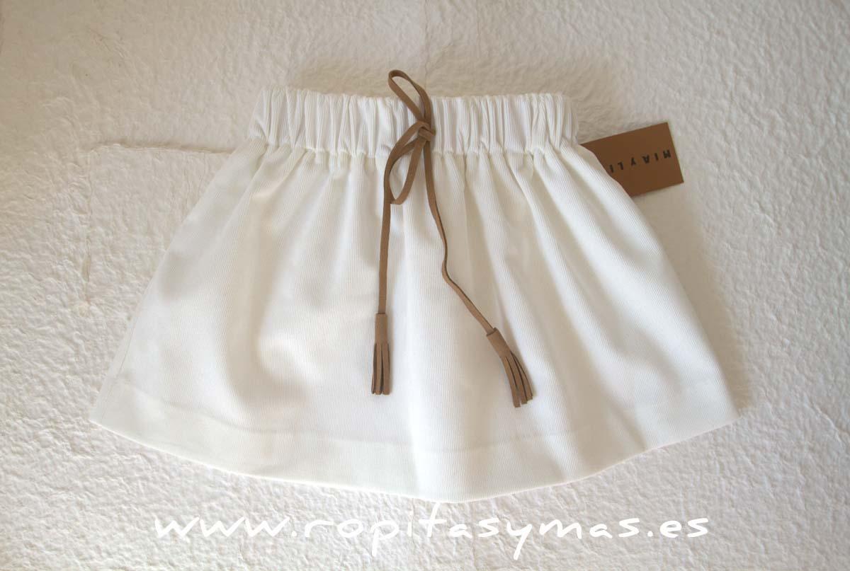 Falda blanca de MIA Y LIA