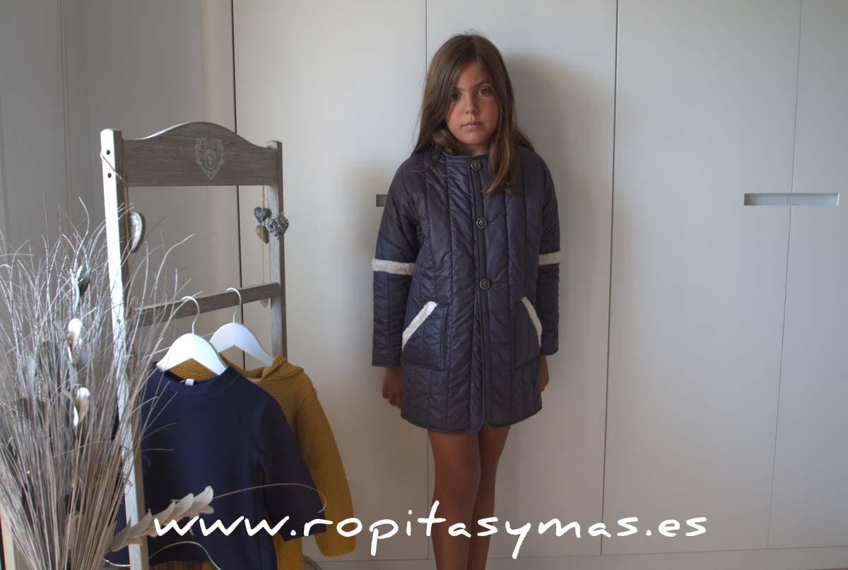 Abrigo ACOLCHADO MAI azul grisaceo de NUECESKIDS