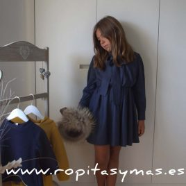 Vestido ANNA azul de NUECESKIDS, invierno 2017