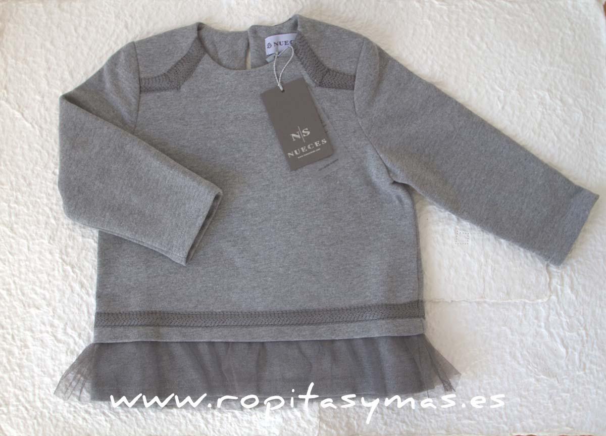 Blusón RAQUEL gris de NUECESKIDS