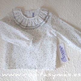 Camisa bebe doble cuello estrellas grises de  ANCAR, invierno 2017