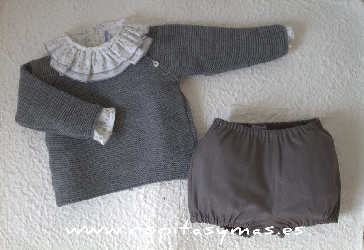 Jersey gris marengo botones de Ancar