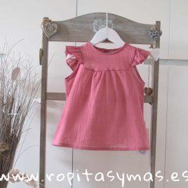 Camisa  rosa fresa de ancar, verano 2018
