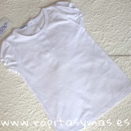 Camiseta  blanca de ancar , verano 2018