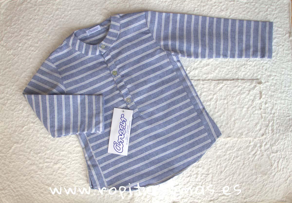 Camisa mao rayas azules y grises de Ancar