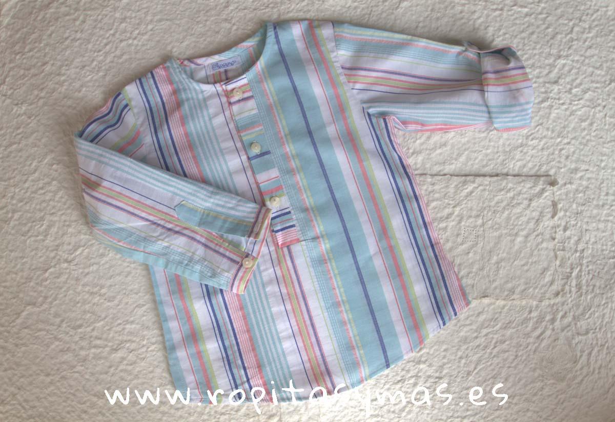 Camisa mao bajo rayas mexicana de Ancar