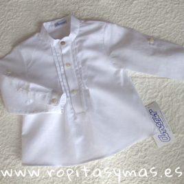 Camisa  pliegues blanca lino de ANCAR, verano 2018