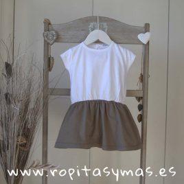 Vestido topo y blanco  de ANCAR, verano 2018