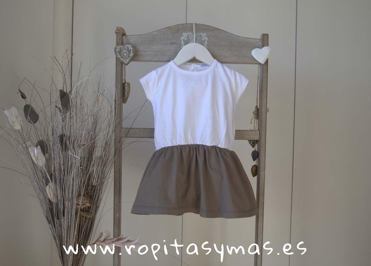Vestido topo y blanco de ANCAR