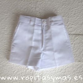 Pantalón corto blanco de lino  ANCAR, verano 2020