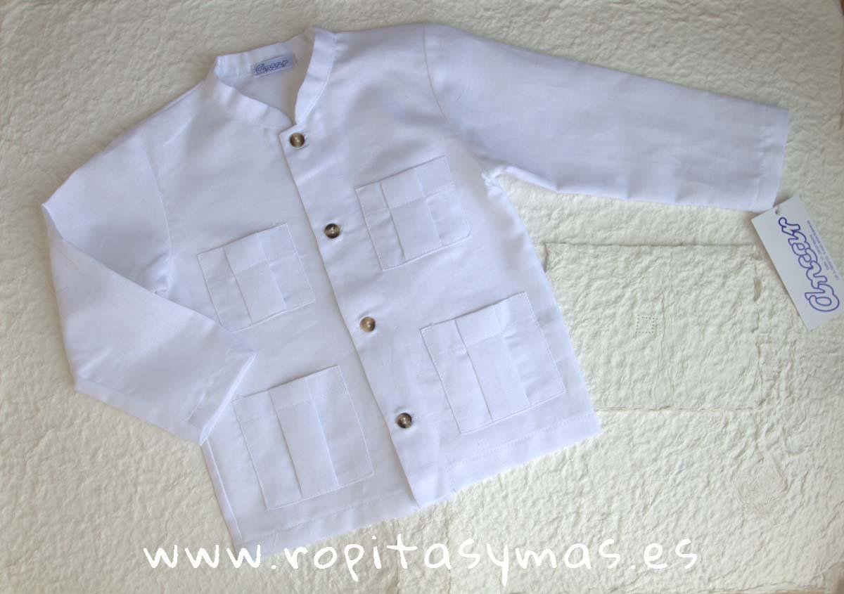 Camisa lino mao y bolsillos de Ancar