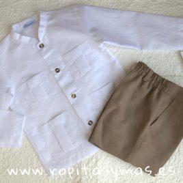 Camisa lino mao y bolsillos de Ancar, verano 2018