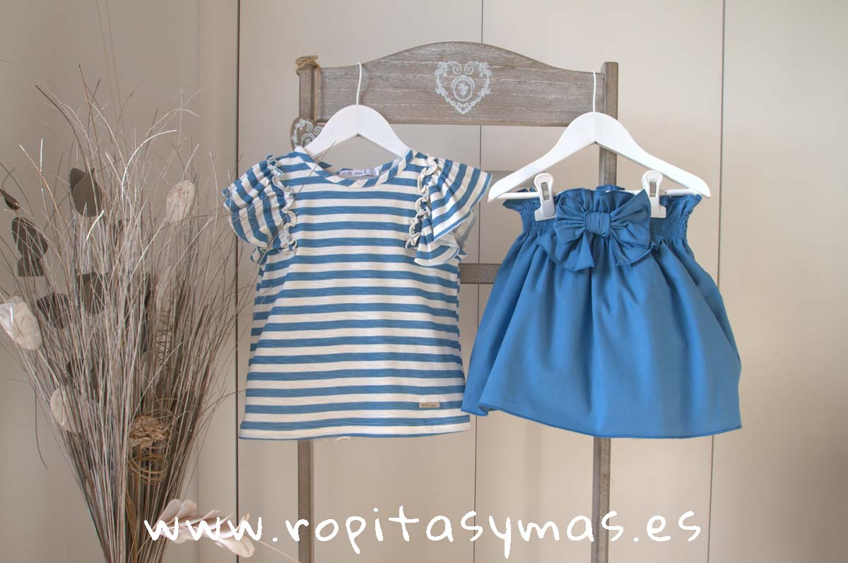 Conjunto falda rayas azulonas FISHER de EVE CHILDREN