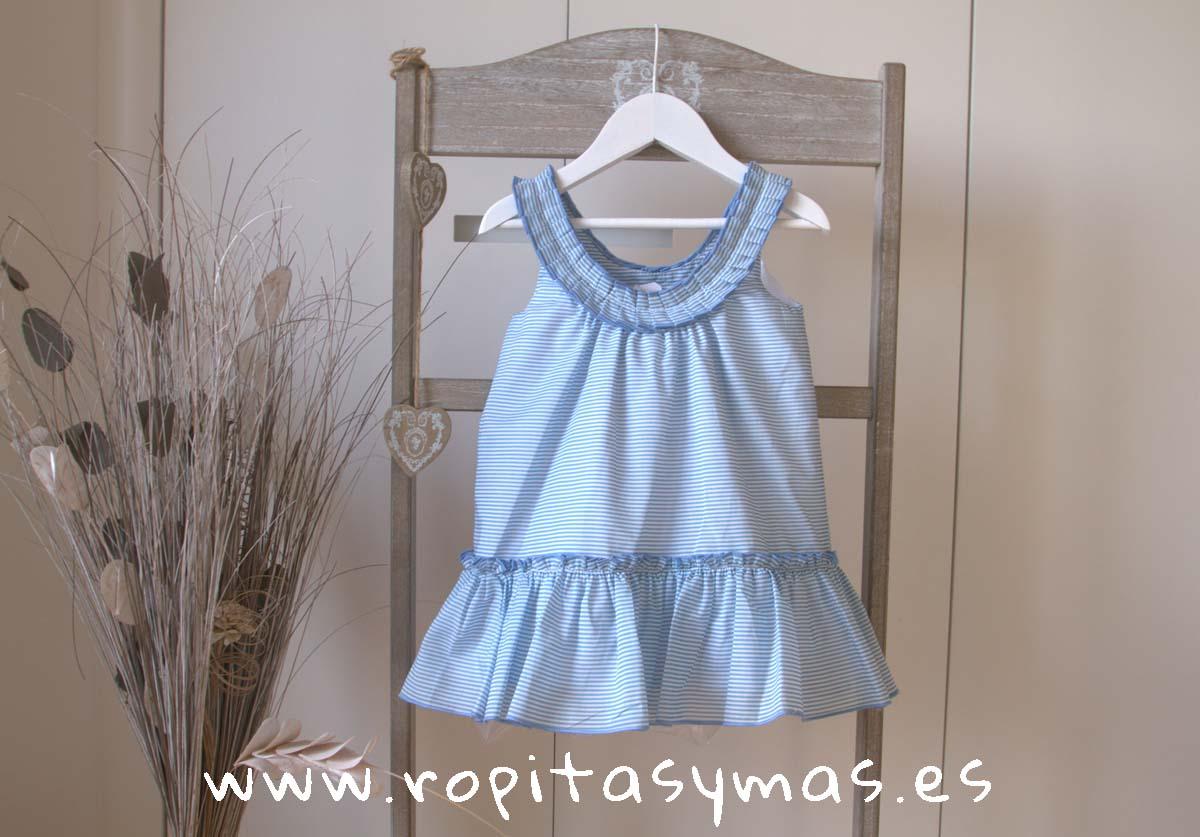 Vestido tirantes rayas azulonas FISHER de EVE CHILDREN
