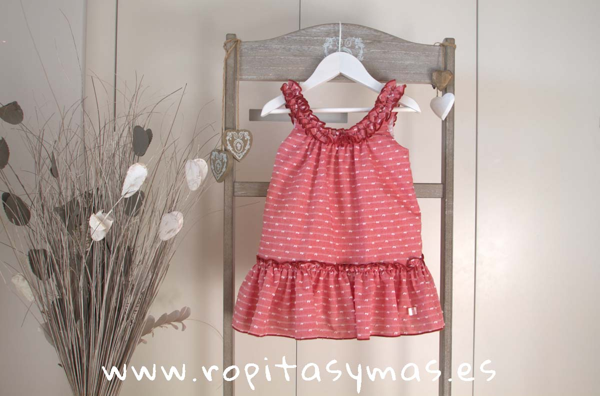 b0362aa74 Vestido tirantes plumeti oxford carmesí de EVE CHILDREN