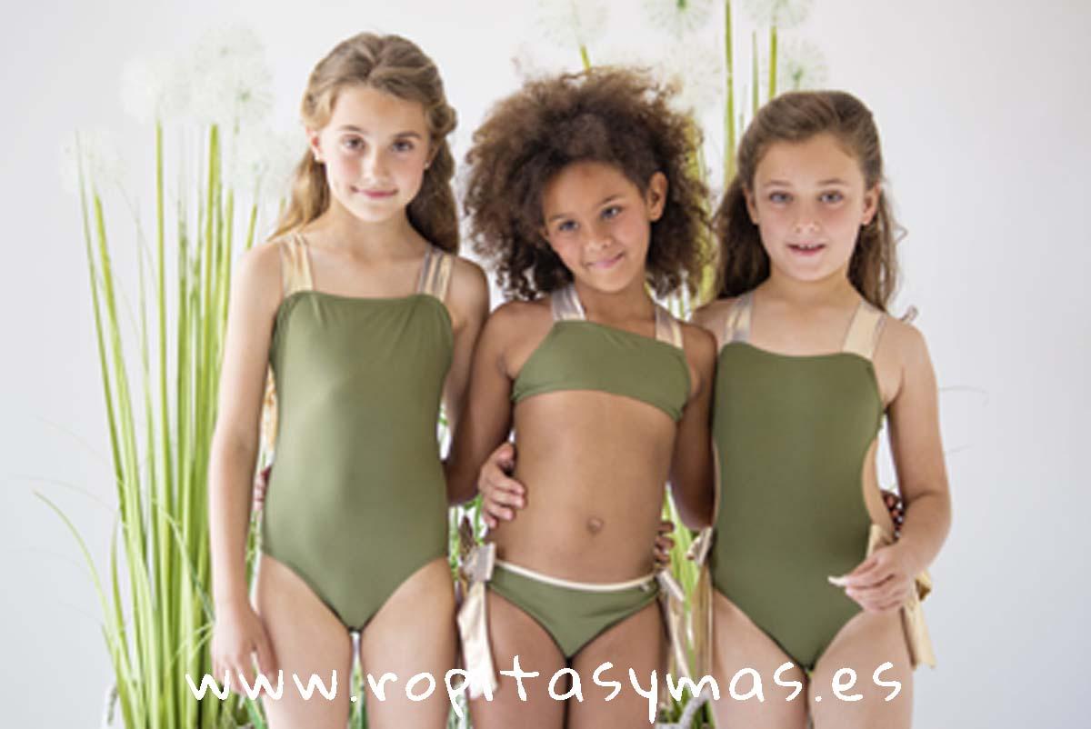 Bañador, Bikini y Triquini kaki CROACIA de NUECESKIDS