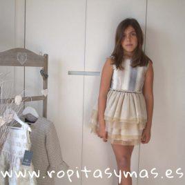 Vestido PRAGA LÚREX RAYAS de NUECESKIDS, verano 2018