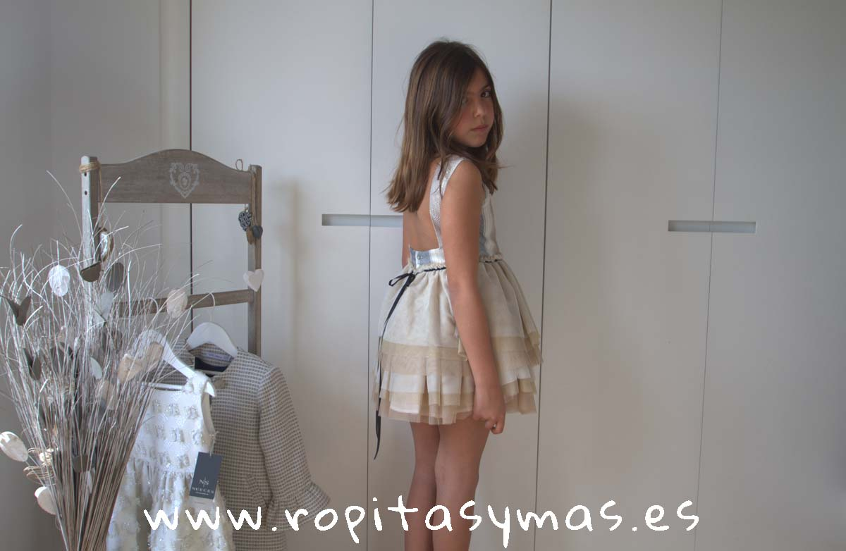 Vestido PRAGA LÚREX RAYAS de NUECESKIDS